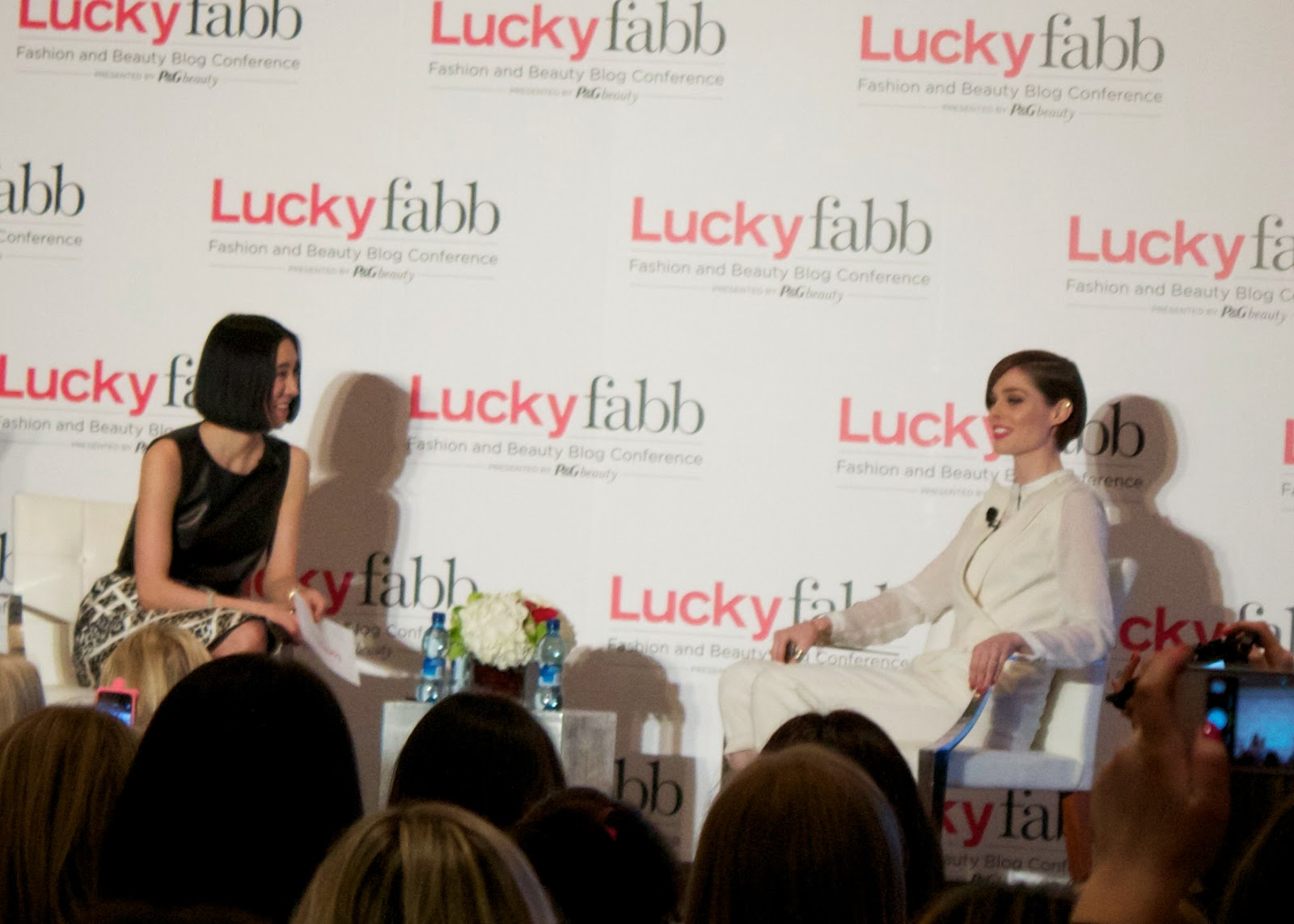 Coco rocha at luckyfabb, Coco rocha doesn't like selfies, coco rocha in white