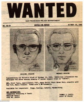 A retired highway patrolman believes he has found the infamous Zodiac Killer, pictured here in a police poster from October 1969, the period when he was on the loose in the Bay Area