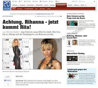 Rita Ora on 20min.ch