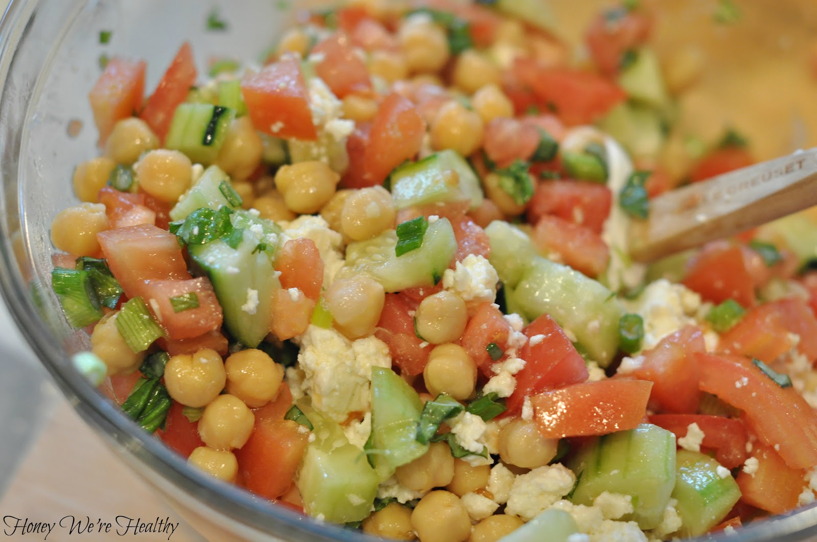 Honey We're Healthy: Mediterranean Chickpea Salad
