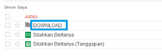 Klik Folder download pada google drive