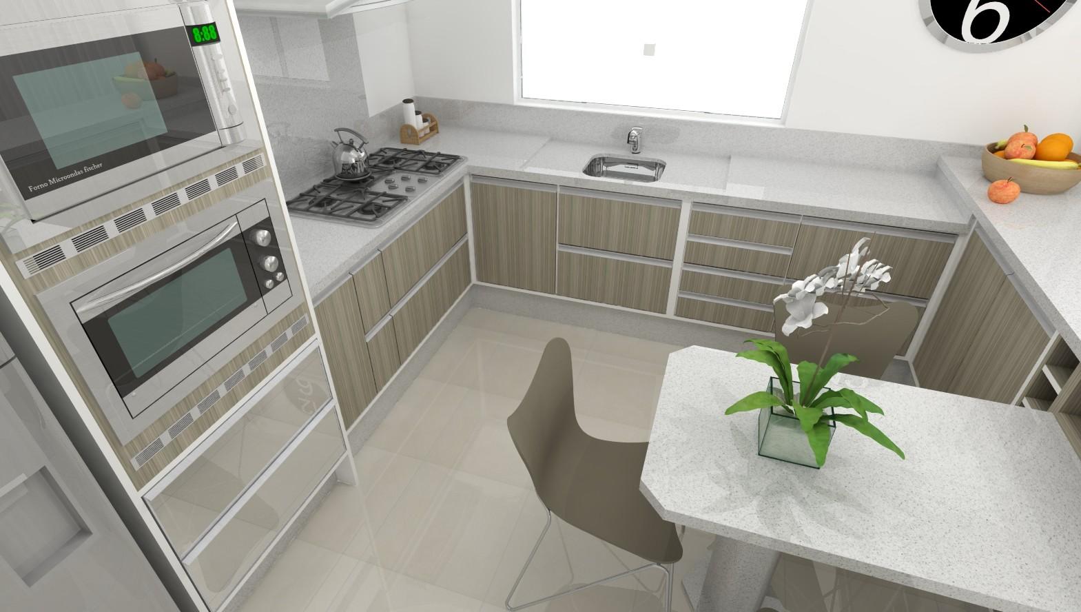 Sekai Projetos e Interiores: Sala e cozinha móveis brancos com  #AC681F 1569 888