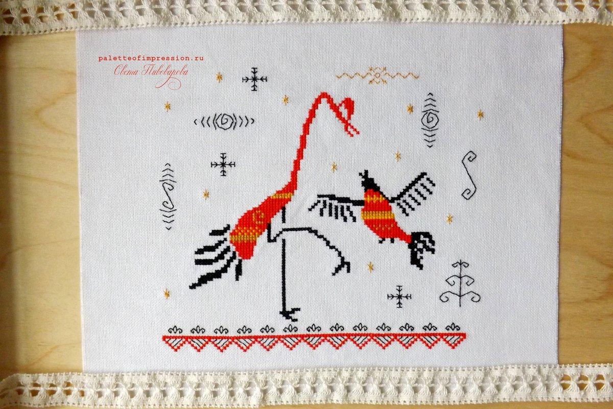 Мезенская вышивка крестом