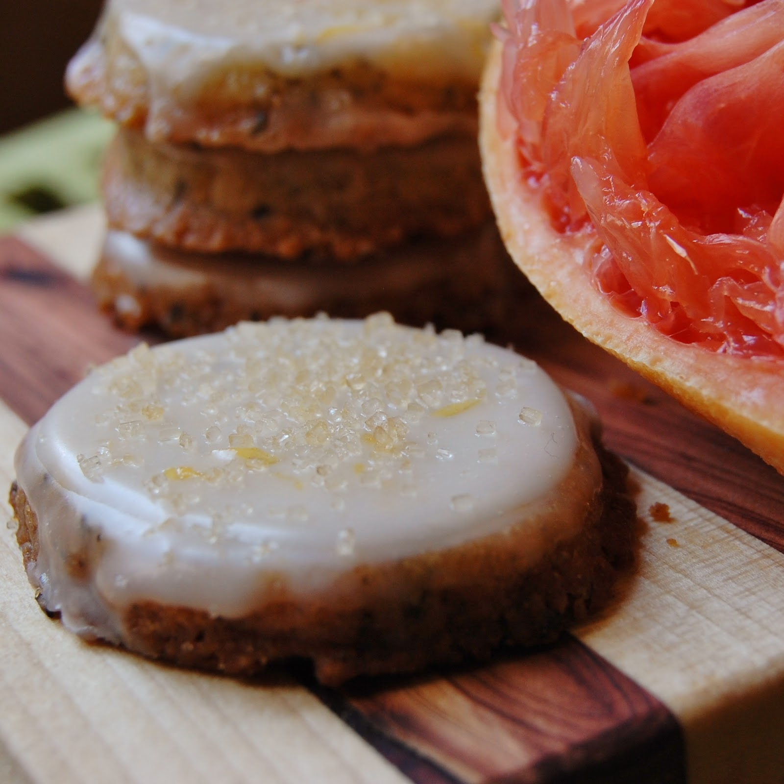 White Tea Cookies with Grapefruit Glaze | RabbitFoodRocks ...