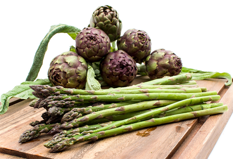 Asparagus and artichokes