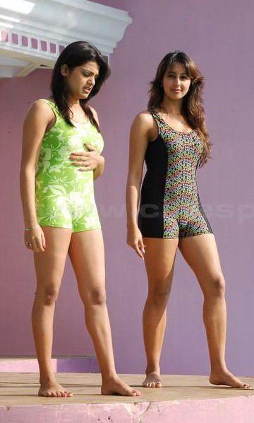 South Hot Sanjana and Thashu Spicy Bikini Shoot in Dussasana hot photos