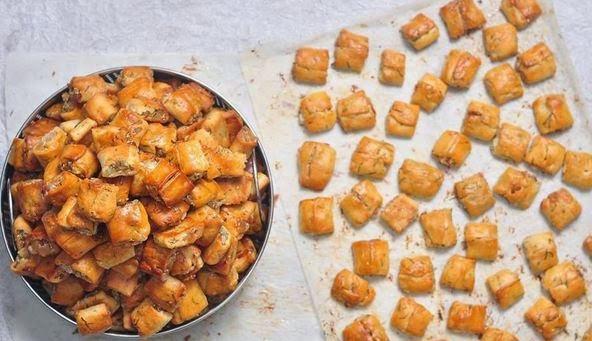 Bánh chả nướng đậm đà cho ngày đầu thu se lạnh