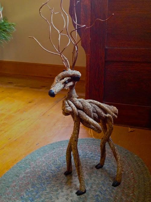 Handcrafted Christmas reindeer