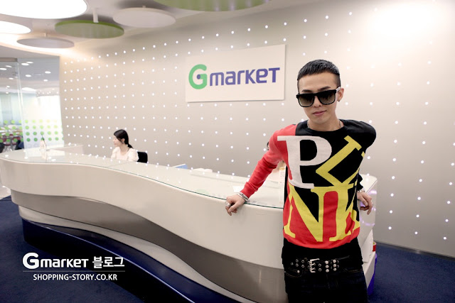 g-dragon at gmarket office