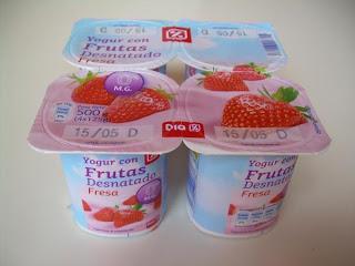 Yogur desnatado con frutas (fresa) DIA
