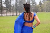 Neelam Upadhyay pics in Blue saree-thumbnail-9