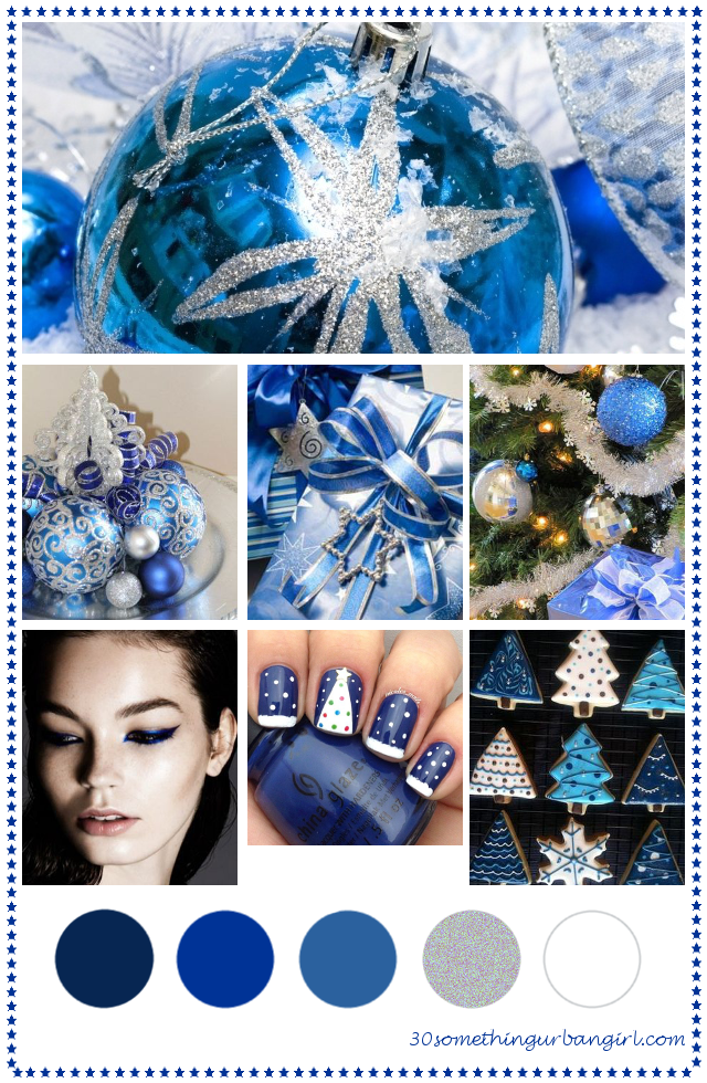pretty blue Christmas color palette inspiration
