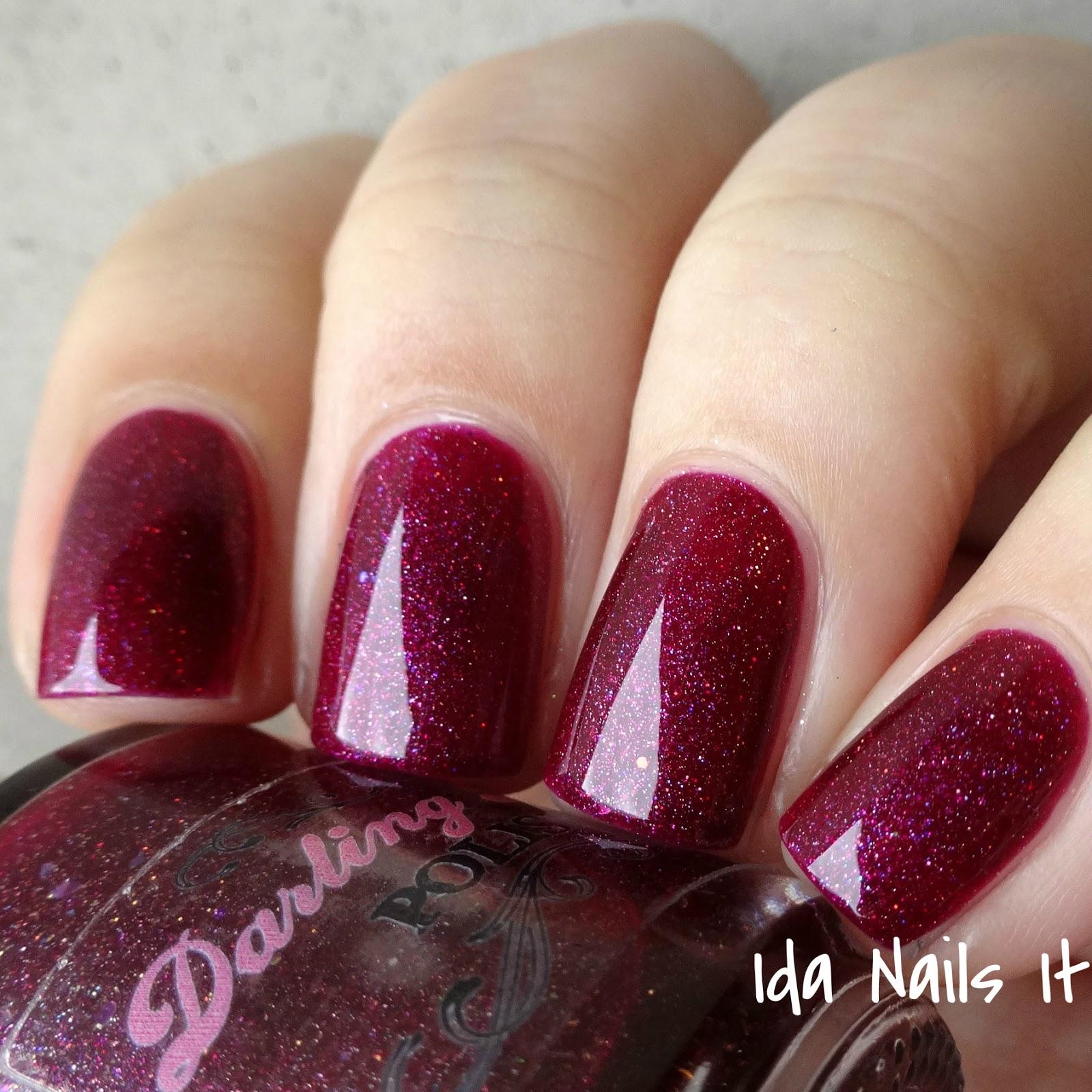Wine Colored Nail Polish: Ida Nails It: Darling Diva Polish Ho Ho Holiday 2015