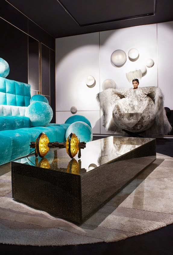 Fresh look at the luxury interior design and decor, the surreal show hubert