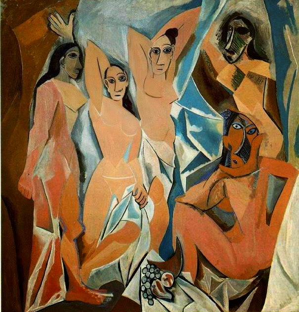 10 Out Of The Most Beautiful Paintings Of All Time - Les Demoiselles d'Avignon by Pablo Picasso (1907)