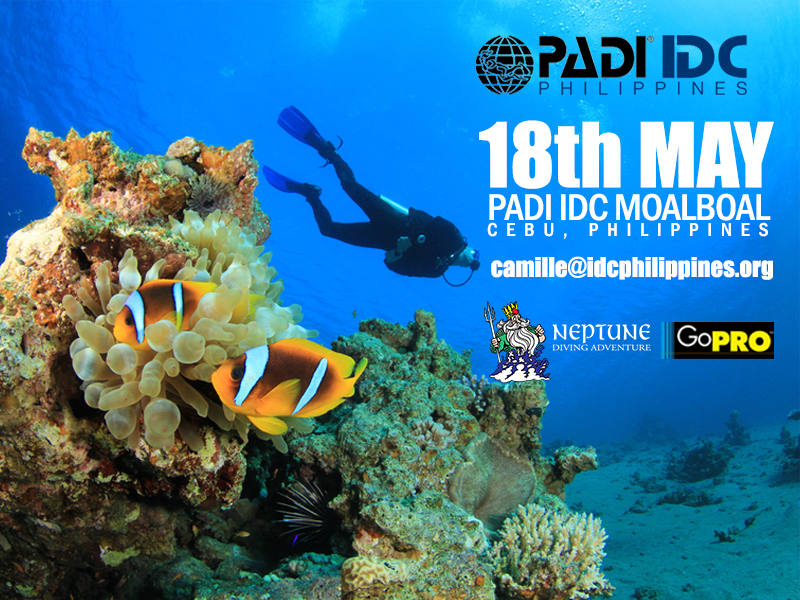 Next PADI IDC in Moalboal, Philippines starts 18th May 2015