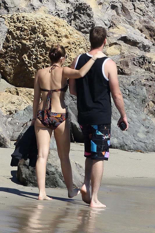 Miley Cyrus – Bikini Candids in Malibu