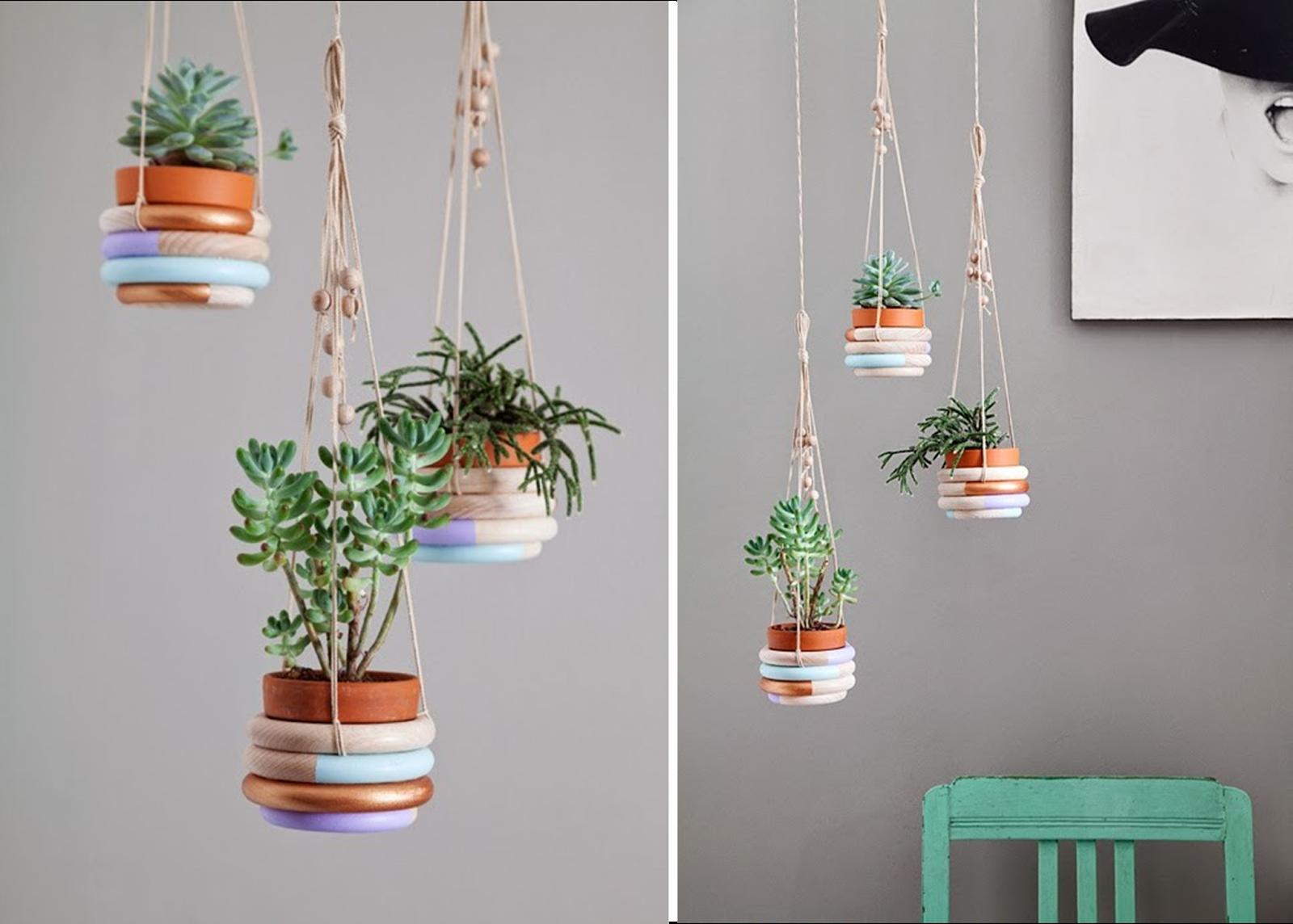 Image gallery macetas colgantes for Como decorar un jardin con macetas