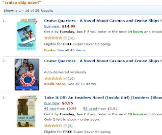 #1 and # 2 Cruise Ship Novel on Amazon