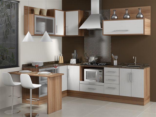 Construindo Minha Casa Clean Cozinha em Laca ou MDF? Modernas e