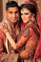 Amir Khan And Faryal Makhdoom Wedding Pictures 2013