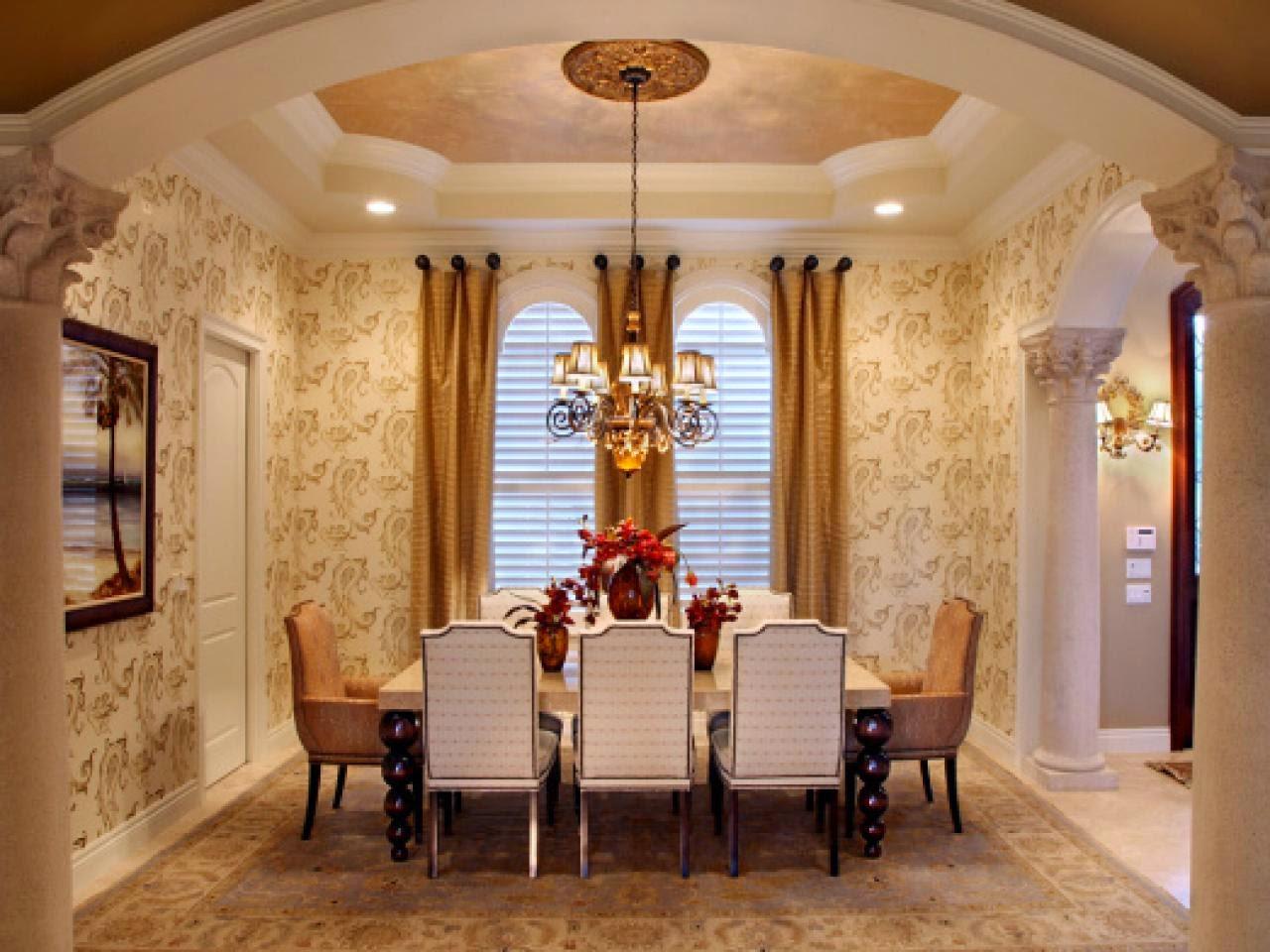 design dining room wallpaper texture ideas