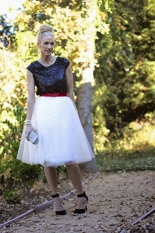 holiday style tulle skirt