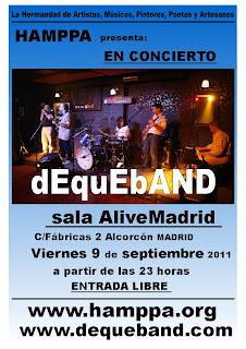 FIESTAS de ALCORCON 2011 - DEQUEBAND en directo. Sala AliveMadrid Alcorcón