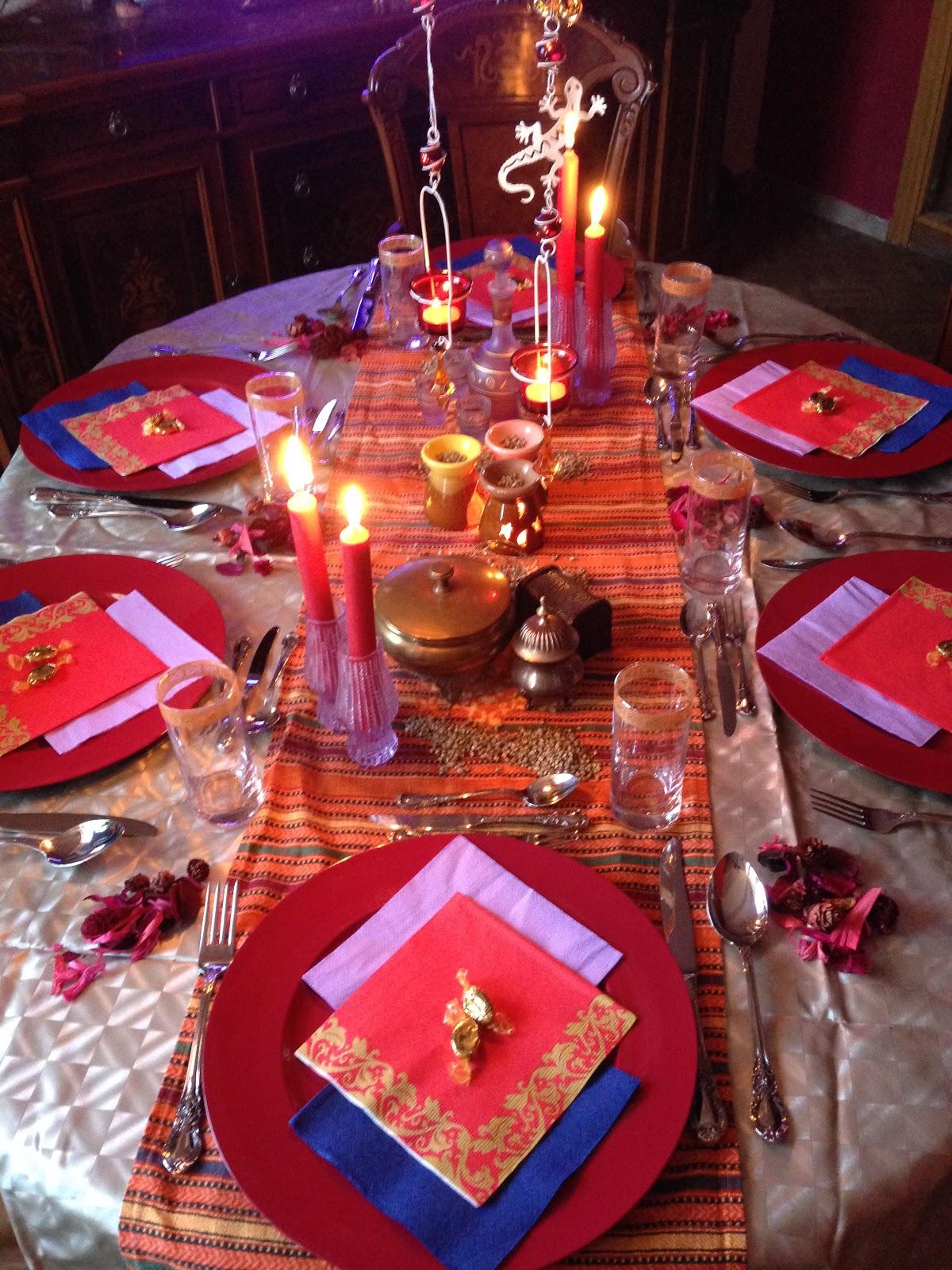 Cuarenta sombras de eva noche tem tica cena marroqu for Decoracion marroqui