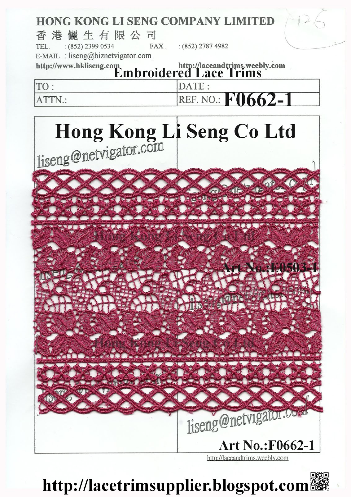 A Good Stock Lot Lace Trims Supplier - Hong Kong Li Seng Co Ltd