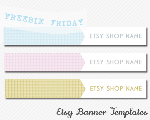 pocket wonders freebie friday etsy banner templates grid