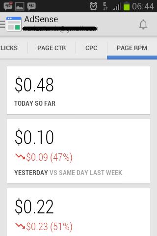 Page RPM AdSense Mobile