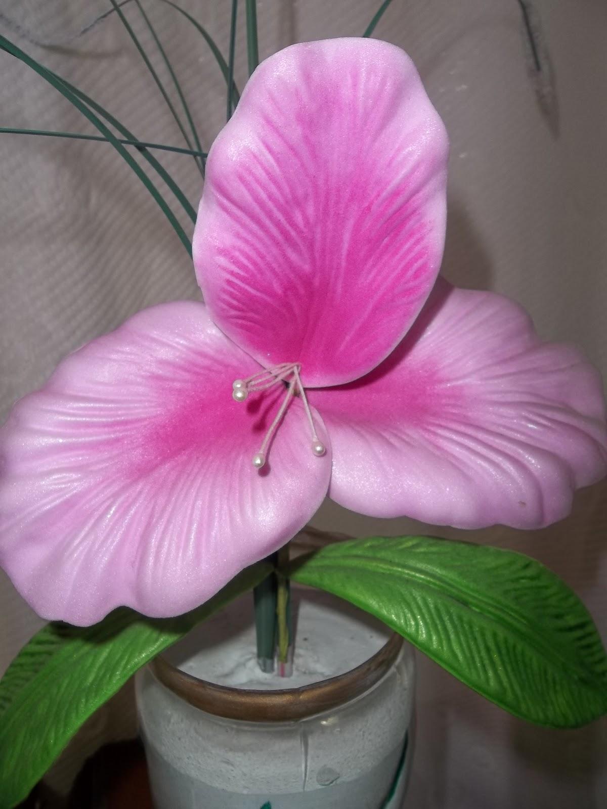 flores en goma eva orquideas