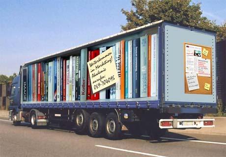 fotos de camiones curiosas publicidad anuncios estanterías libros