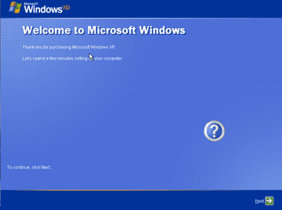 Proses akhir install windows XP
