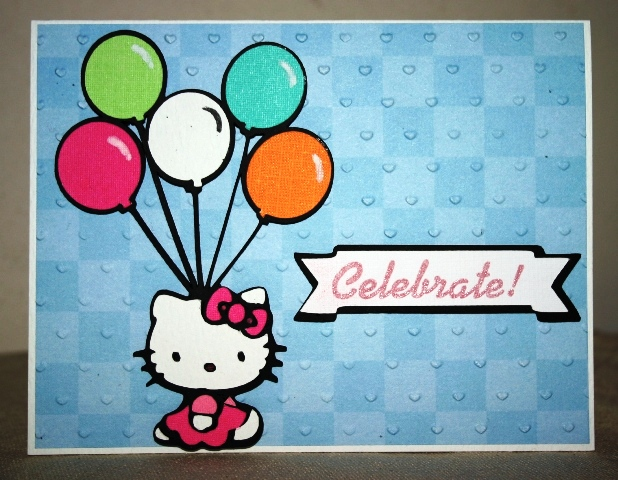 free birthday cards images. Wet or Dry Embossed Birthday Card for Challenge