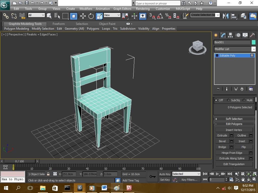 Cara membuat kursi di 3d max - 3d max tutorials