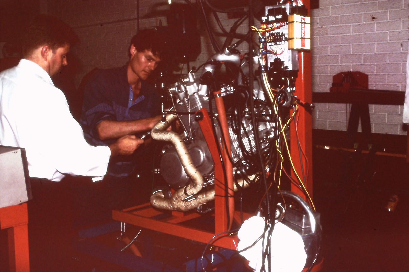 Hunwick Hallam Motorcycle Engine Test