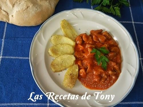 Carne De Magro De Cerdo Con Tomate