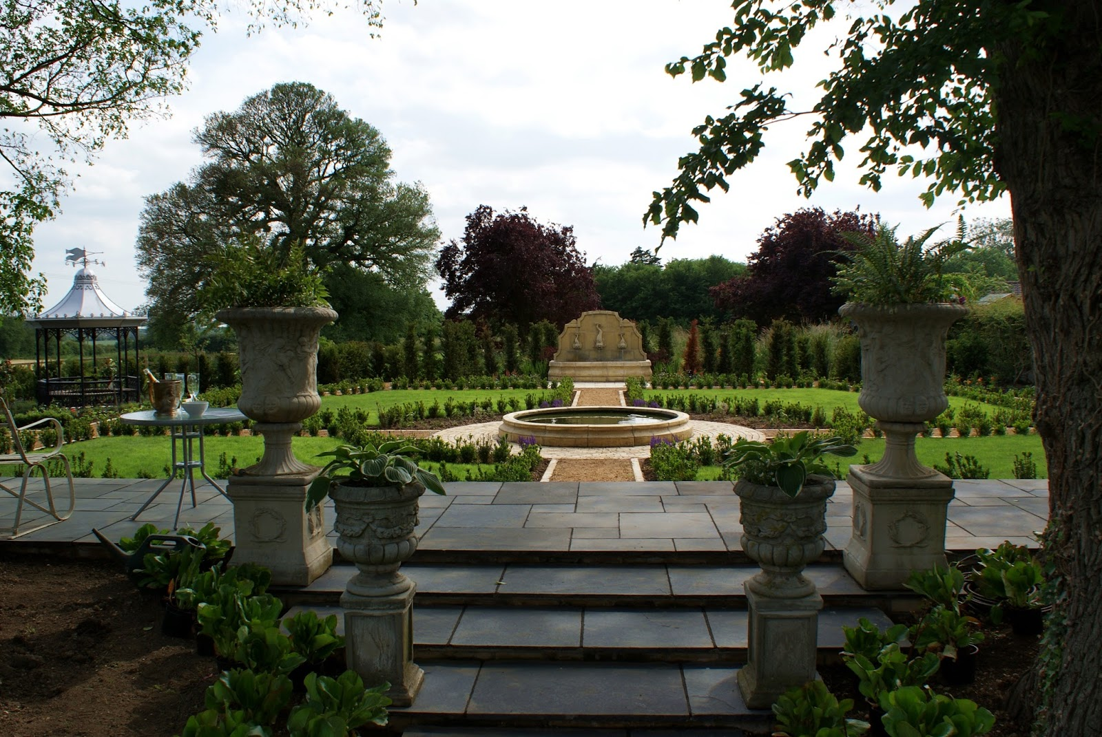 large traditional formal garden design cambridgeshire