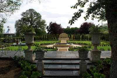 Formal Garden with Classical Features in Huntingdon Cambridgeshire