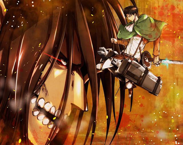 Eren Titan Form Levi Attack on Titan Shingeki no Kyojin Anime HD Wallpaper Desktop PC Background 2094