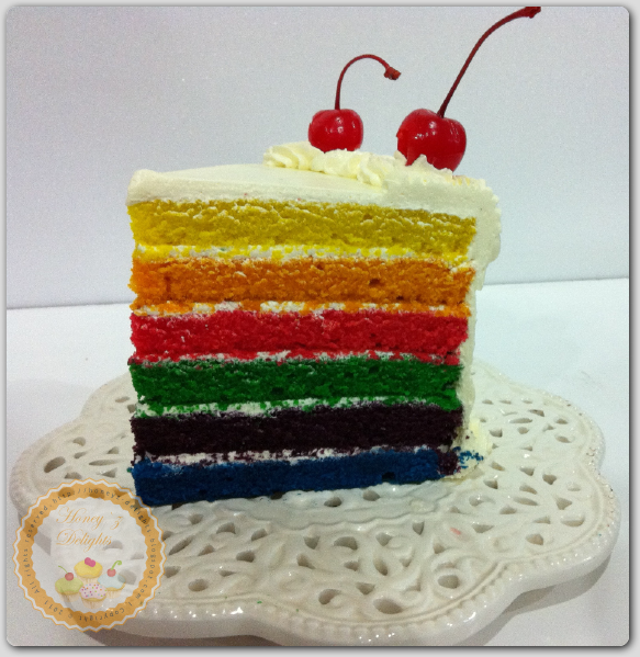 Italian Rainbow Cake With