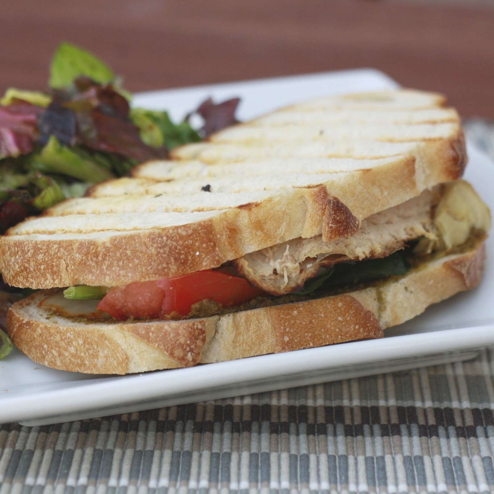 Turkey Pesto Paninis with Pepperjack | The Sweets Life