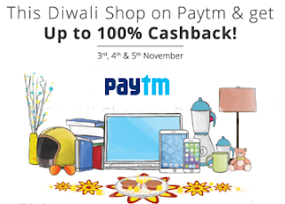 PayTm The Big Diwali 100 Sale - Upto 80% Cashback Across All Categories