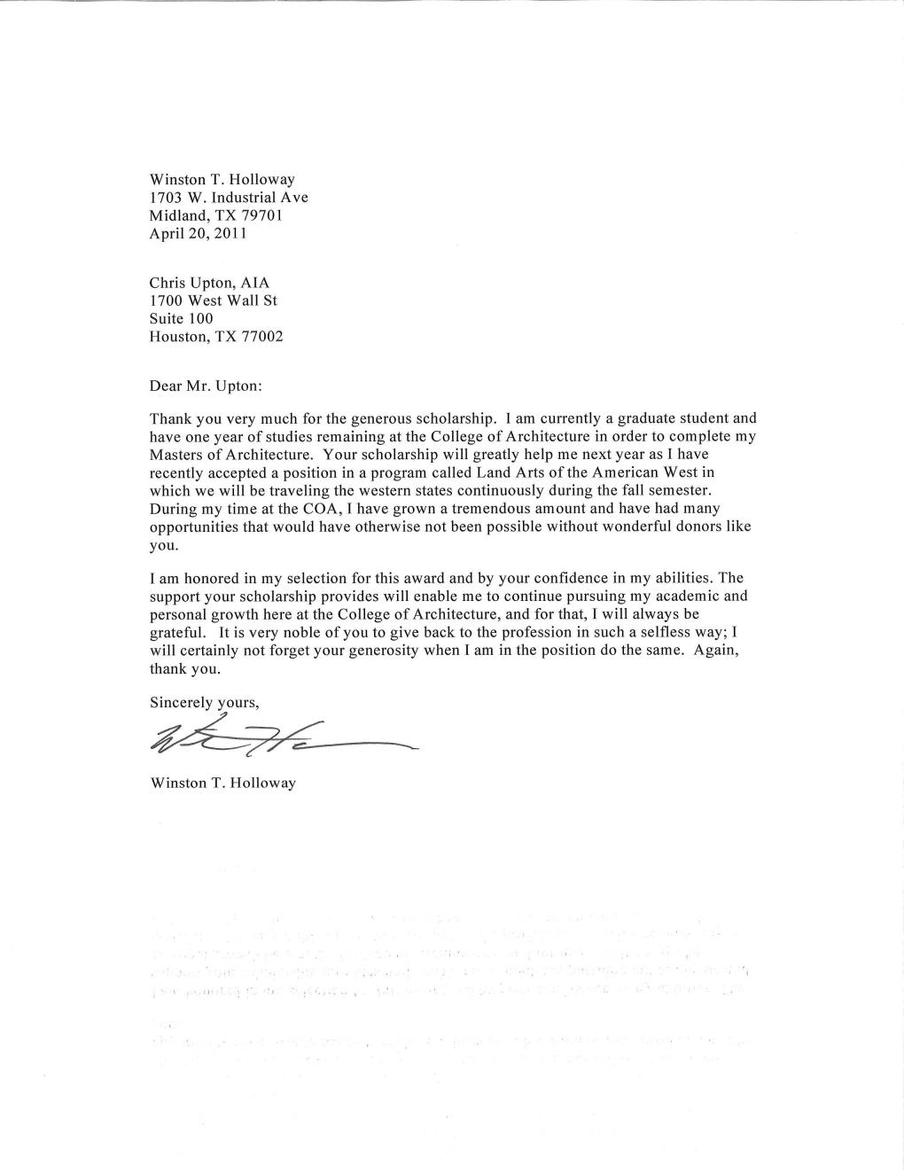 Below is his Thank You letter and the image from the Convocation at ...