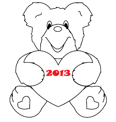 How to draw valentine teddy bear drawings for Valentine bear coloring pages