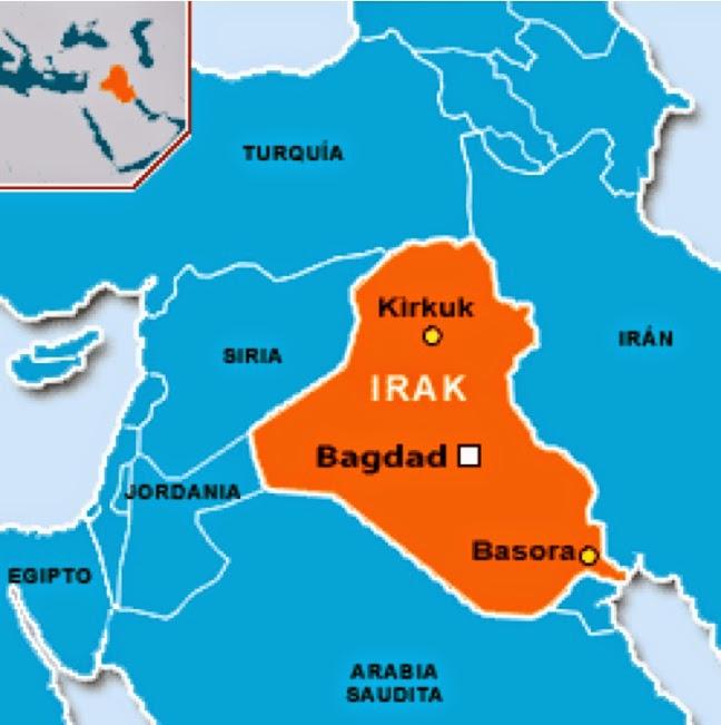 Irak O Iraq AADE – Mapa De Iraq