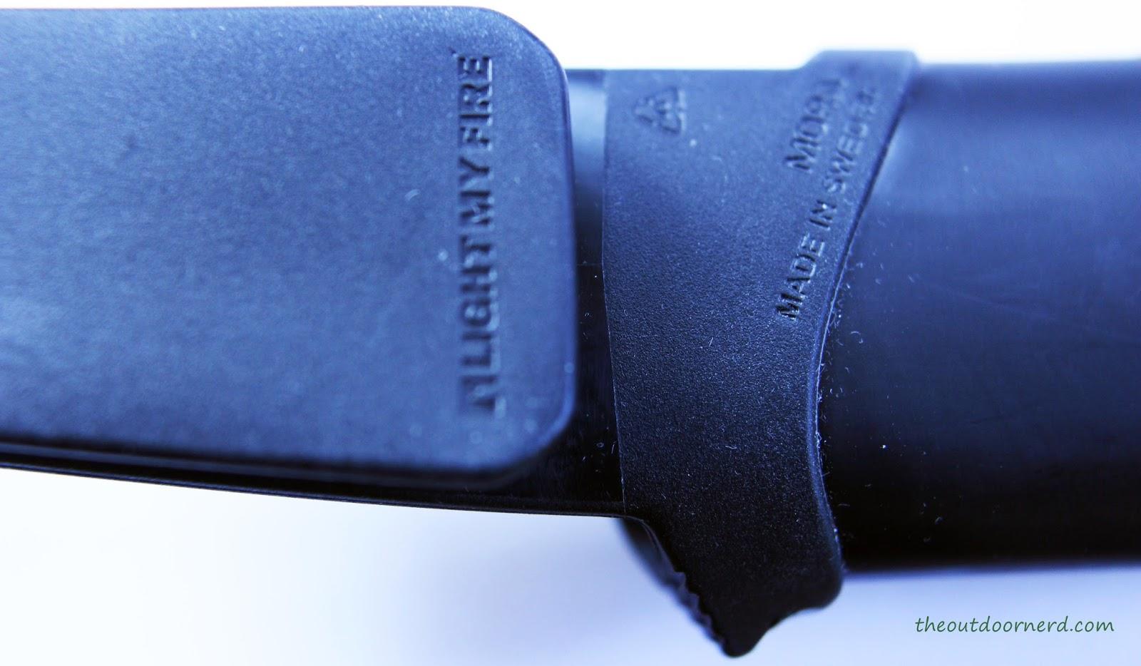Light My Fire Swedish FireKnife: Closeup Of Sheath (Back)