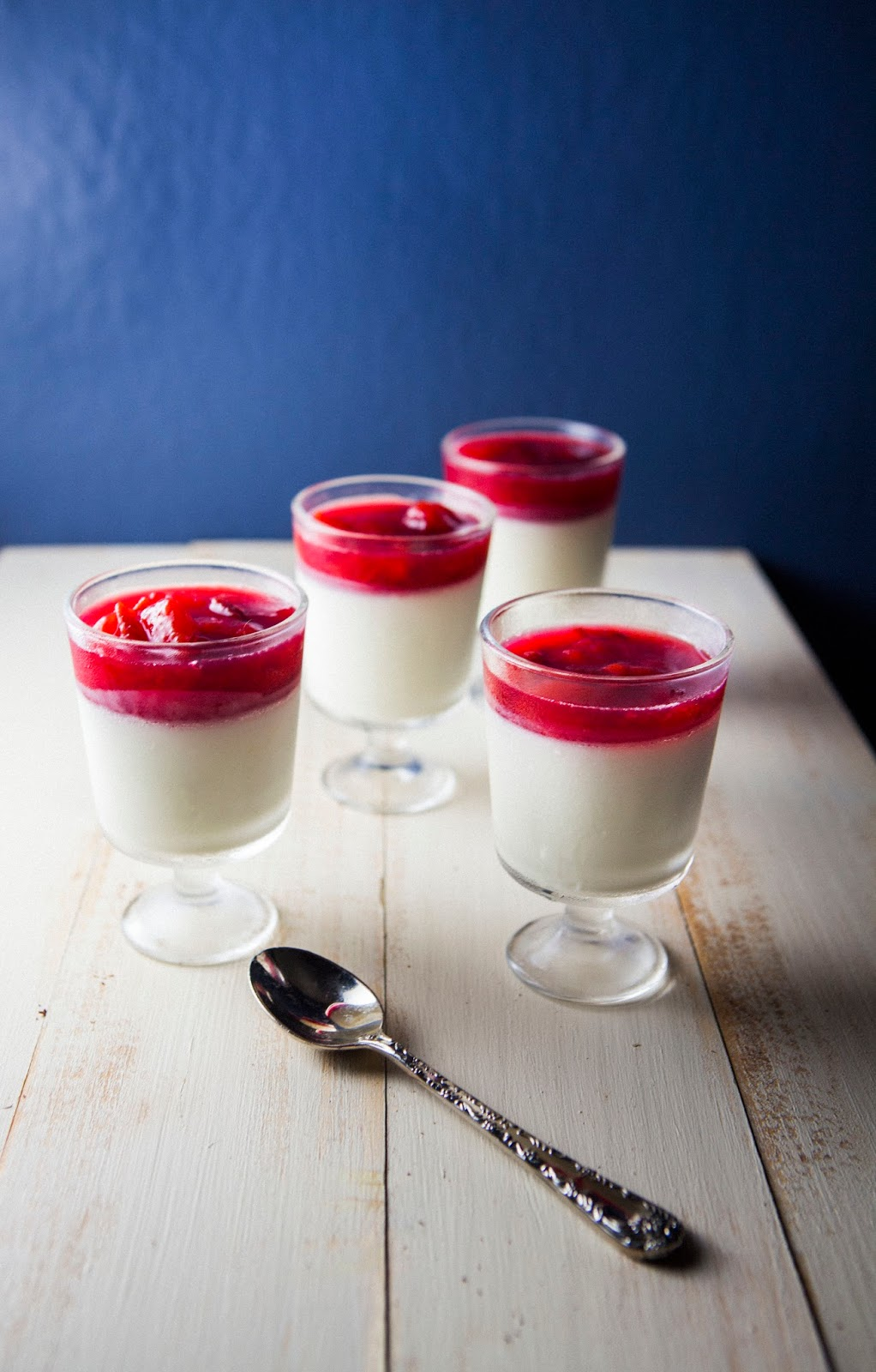 Buttermilk Panna Cotta with Plum and Rose Water Compote | hummingbird ...